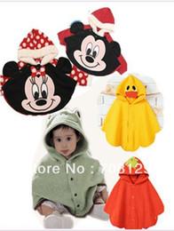 Wholesale Baby Cloak Reversible - Wholesale-Baby outerwears cloak coat cape Baby reversible cloak mantelet Hoodie