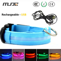 Wholesale Pet Cable - New LED dog collars with usb charger cable S M L XL size led pet collar with best quality and high luminuous