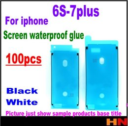 Wholesale Black Apple Sticker - 100pcs For iPhone 6s 6s Plus 7 7 Plus Waterproof 3M Adhesive Tape Sticker Glue Front Housing LCD Touch Screen Frame black white