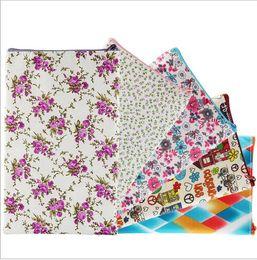 Wholesale Brush Printing - Flower print Cosmetic Bag Holder Organizer For Women Cartoon Makeup Brushes Pouch Case Organizer bag KKA3474