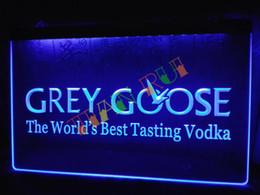 Wholesale Goose Decors - LE216-b Grey Goose Vodka Neon Light Sign home decor shop crafts led sign