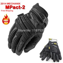 Wholesale Airsoft Fingerless Gloves - Wholesale-New Mechanix Wear M-Pact 2 Heavy Duty Protection Motorcycle Airsoft Military Tactical Bicycle Full Finger Gloves Free Shipping