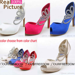 Wholesale White Ankle Strap Heels - Rhinestone Crystal Open Peep To Wedding Shoes Gladiator Stiletto Heel Pumps Heels Women's Prom Party Evening Dress Wedding Bridal Shoes ST02