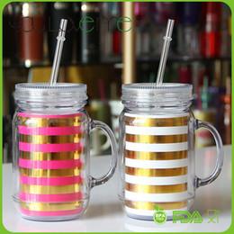 2019 cadeaux de sport 20 oz camping citron fruits jus drinkware tasse en plastique maçon pot sport bouteille d'eau livraison gratuite avec cola cadeau présent cadeaux de sport pas cher