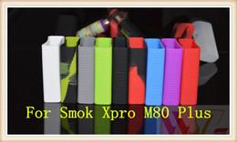 Smok xpro online-Funda de silicona Bolsa de silicona Caja de goma colorida Cubierta protectora Cubierta protectora colorida para Smoktech Smok xpro m80 más Caja Mod DHL
