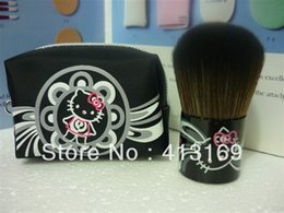 Wholesale 182 Brushes - Free Shipping 10 Pieces Lot New Hello Kitty Makeup Blush Brush #182+Leather bag