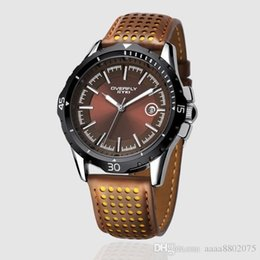 Wholesale Eyki 3atm - Top Sale! EYKI OVERFLY 3ATM Waterproof Men's Military Watches,Men's Leather Strap Sports Watches 12-month Guarantee