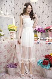 Wholesale Dot Net Chiffon - Amy 2015 Europe And The United States Women's new Summer Net sand stitching chiffon vest dress