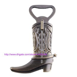 Wholesale Boot Irons - 300pcs Funny Design Retro Boots Wine Beer Bottle Openers Cooking Tools Wine Opener Business Boot Bottle Opener Gift Free DHL FEDEX shipping
