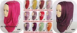 Wholesale Shimmered Shawl - Wholesale-P.healthy-Wholesale Glitter Scarf shimmer Shawls Muslim shiny Hijab -SCF14414_7715-Free Shipping