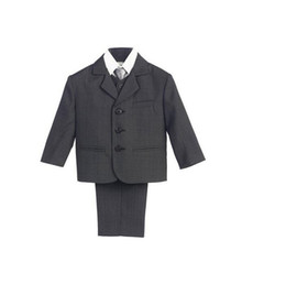 Wholesale Boys Occasion Suits - New fashion boys formal occasion tuxedos wedding party boys suits fashion three button boys suits for wedding (jacket+pants+vest)