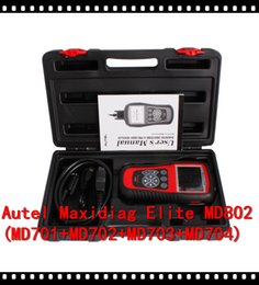 Wholesale Automotive Clear - Aramex free shipping Autel MaxiDiag Elite MD802 4 System Advance Graphing OBDII Scan Code Clearing Tool 4 System