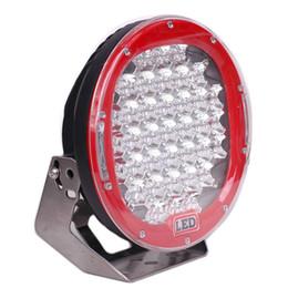 Faróis de neblina on-line-9 '' 185W CREE LED LUZ DE Trabalho 12V 24V Ponto de Inundação 37X5W Rodada LED Luzes de Condução 4x4 Caminhão 4WD SUV Jeep ATV Off road Fog Lamp