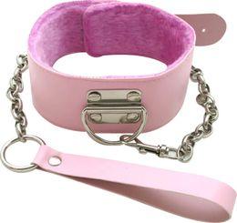 Wholesale Dog Collar Adult - pink pvc leather Dog Slave Restraint collar Fetish For Adult Sex Games