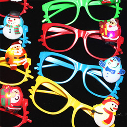 Wholesale Framing Media - Hot sell Creative Father Christmas luminous Glasses frame Christmas party Cheer props Christmas decorations supplies IA883