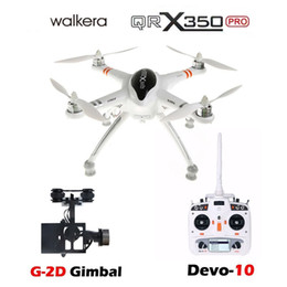 Wholesale Rc Helicopter Devo - WALKERA QR X350 Pro GPS Drone 6CH Brushless UFO with Transmitter Remote Control Helicopter RC Quadcopter DEVO 10 F7 & G-2D Gimble RTF