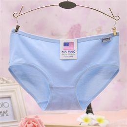 Wholesale Simple Underwear Briefs - Cotton ladies underwear cotton simple candy-colored women's panties triangle girls underwear wholesale 13 color free shipping