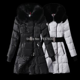 Wholesale Girls Goose Down Coats - Winter Jacket Women,Down Jacket,2017 New Arrival Girls Fur Collar Jacket Womens Down Coat Wholesale Black White Lady Down Parkas