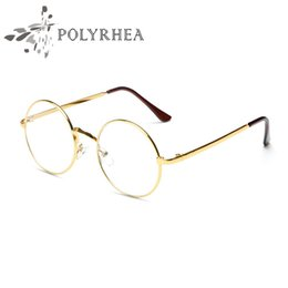 Wholesale Grade Spectacle Frame - High Quality Grade Eyewear Frames Vintage Round Glasses Female Brand Designer Spectacle Plain Glasses With Case And Box