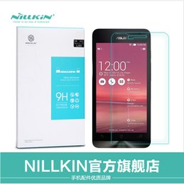 Wholesale Nillkin Screen Protector - Wholesale-Touch Pen & NILLKIN Amazing H Nanometer Anti-Explosion Tempered Glass Screen 9H Protector Film For Asus ZenFone 5