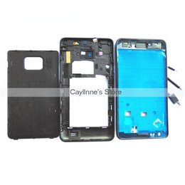 Wholesale Galaxy S2 Housing Bezel - 5pcs Lot For Samsung Galaxy S2 SII i9100 Full Housing Case Bezel Cover Home Button Black White order<$18no track