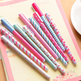 Wholesale Cute Kawaii Pens - 100pcs flower design Kawaii Color Gel Pens set Stationery Cute Caneta Novelty gift Office accessories school supplies r3146