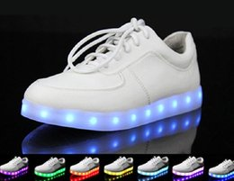 Wholesale Usb Ubs - unisex Stylish LED Lighting UBS charging Luminous shoes Men women sneakers Lovers USB charging Casual sports shoes