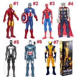 Wholesale Marvel Iron Man Toys - 30cm The Marvel Avengers Figure Super Hero Captain America 3 SpiderMan Iron Man Action Figures Boy Toys Gifts