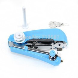 Wholesale Mini Portable Hand Sewing Machine - Mini Portable Cordless Hand-held Clothes Sewing Machine Home & Travel Use