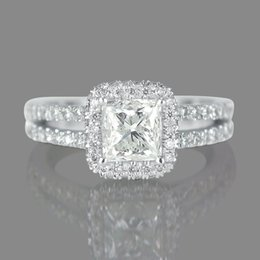 Wholesale Diamond Ring Solitaire Princess - 1 2 3 F SI1 Women's Diamond Engagement Ring Princess Enhanced 950 Platinum