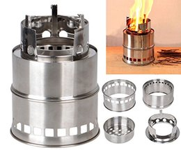 Wholesale Kerosene Camp Stove - Portable Stainless Steel Lightweight Stove Wood Solidified Alcohol Stove Outdoor Cooking Picnic BBQ Camping Backpacking Emergency A098
