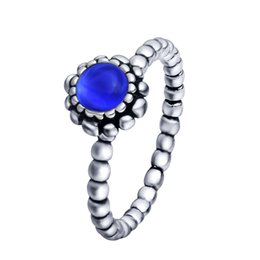 Wholesale Lapis Lazuli Ring Silver - 925 sterling silver ring lapis lazuli female elegant ring party birthday present the highest quality