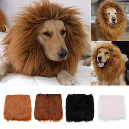 Wholesale Lion Winter Hat - Adjustable Large Pet Dog Cat Costume Clothes Funny Lion Mane Wig Head Warm Hat 4 Colors