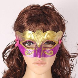 Wholesale Sexy Hip Hop Dance Costume - Party Venetian masquerade Eye Mask gold Sexy Hip Hop Dance costume carnival cosplay fancy dress christmas costume wedding gift 3000p B124