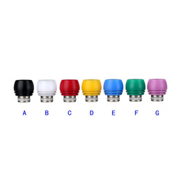 Wholesale Derlin Drip Tips - Newest Stainless Steel Drip Tip Derlin Wide Bore Drip Tips for Electronic Cigarette Verious Colors Mouthpiece fit 510 RDA Vaporizer Atomizer
