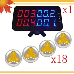 Wholesale Wireless Waiter Call System - Ycall Good Quality Restaurant Pager Show 4groups Number Display And Call Button Wireless Waiter Table Call System