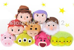 Wholesale Woody Plush - Wholesale-Original Tsum Tsum Plush Toy Story Jessie Woody Buzz Lotso Bear Alien Peas Hamm Pig Mini Collection Cute Smartphone Cleaner