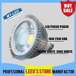 Wholesale Downlight Led Cob 25w - DHL FREE SHIPPING Dimmable Led COB bulb par38 par30 110-240V 18W 25W E27 par 30 38 LED Lighting Spot Lamp light downlight spotlight lights