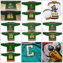 Wholesale Movies For Sales - 2015 Mighty Ducks Movie Personal Dave Lester Averman Tammy Duncan Julie Gaffney The Cat Dwayne Robertson Ice Hockey jersey for sale