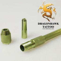 припой Скидка Зеленая ручка отметки кожи татуировки для ручки Tatttoo алюминиевого сплава повторного пользования WS082-1