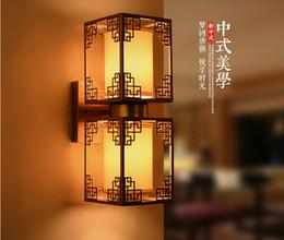 El nuevo estilo chino del hotel dormitorio cama lámpara de hierro complejo clásico moderno minimalista doble pasillo escaleras lámpara de pared entrega gratuita desde fabricantes