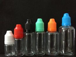 Wholesale Clear Pet Bottles - pet empty bottle e cig liquid pet plastic bottle clear with chrildrenproof safty cap needle bottle 5ml 10ml 15ml 20ml 30ml FJ060