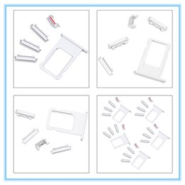 Wholesale Iphone Power Button Assembly - Original New Sim Card Tray Holder & Power Volume Mute Buttons Keys Side Buttons Full Sets Assembly for iphone 7 6 6S 6P 6SP