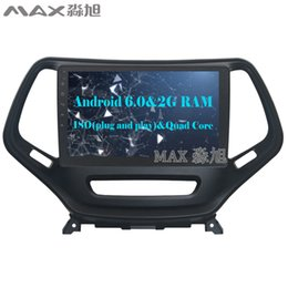 Wholesale Dvd Player Gps For Jeep - HD 1024*600 2G RAM 16G ROM Android 6.0 Car DVD Player for Jeep Cherokee 2014-2016 with 1024*600 Radio BT WIFI SWC