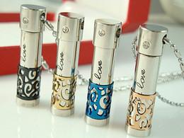 Locket aberto on-line-Openable Only Love Aço Inoxidável 316L cremação Jóias perfume garrafa Urnas Memorial Urnas Medalhões Colar de Jóias Urnas