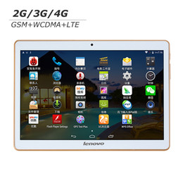 Wholesale Lenovo Gps Quad 16gb - Lenovo 9.6 inch IPS Tablet PC LTE 4G Android 5.1 OS Dual Sim Card 1GB RAM 16G ROM GPS Wifi Bluetooth