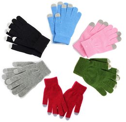 Wholesale Tablet Wholesale Market - Wholesale-2015 Real Special Offer Solid Adult Gloves New! Warm Winter Touchscreen Gloves Suitable Tablet Market All Types of Mobile Phones