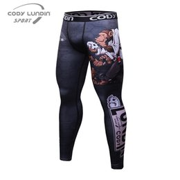 Wholesale Wholesale Compression Tights - Wholesale- Fashion Men's Sexy Tight Pants Casual Sweatpants Low Rise Elastic Skinny Active Pants Compression Track Bottoms Leggings
