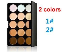 Wholesale Make Up Palette Camouflage Concealer - 2015 newest Cosmetic Salon Party 15 Colors Camouflage Palette Face Cream Makeup Concealer Palette Make up Set Tools DHL FREE