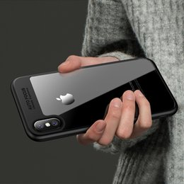 Wholesale Iphone 5s Cases Durable - Acrylic bare clear back shell for iphone 5 5s 6 6s plus 7 7plus 8 8 plus x Soft TPU Durable Cover for DHL